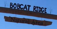 Bobcat Ridge sign