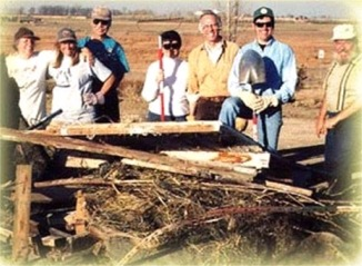 Fort Collins Audubon Society Fall Cleanup at Fossil Creek Wetland 1999